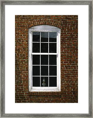 Framed Print featuring the painting Roswell Window by Tom Wooldridge