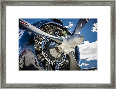 Rotary Engine And Prop Framed Print by Bradley Clay