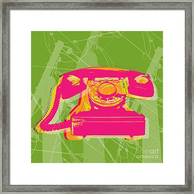 Rotary Phone Framed Print by Jean luc Comperat