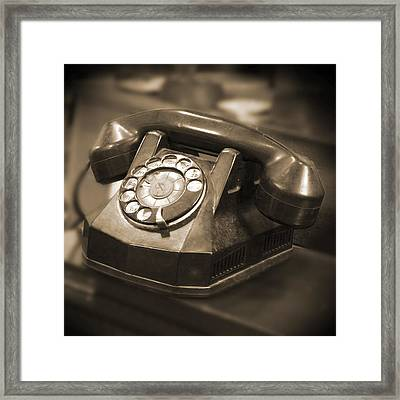Rotary Phone Framed Print by Mike McGlothlen