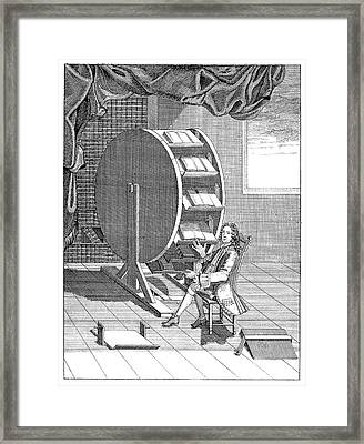 Rotary Reading Wheel Framed Print by Science Photo Library
