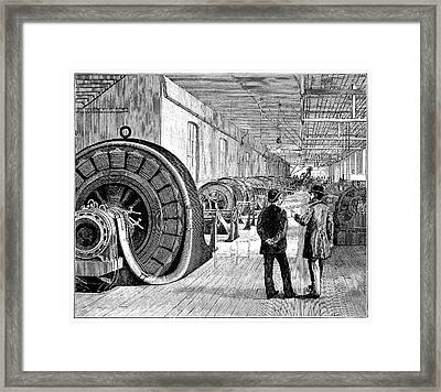 Rotary Transformers Framed Print by Science Photo Library