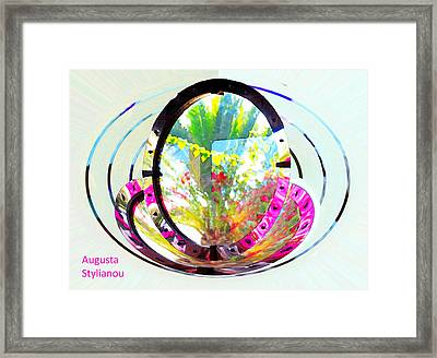 Rotating Flowers Framed Print by Augusta Stylianou