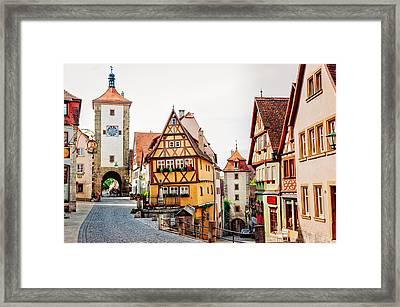 Rothenburg Framed Print by Jen Morrison