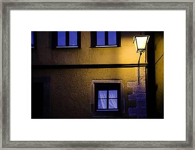 Rothenburg By Night Framed Print by Joanna Madloch