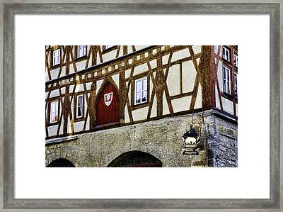 Rothenburg Geometry Framed Print by Joanna Madloch