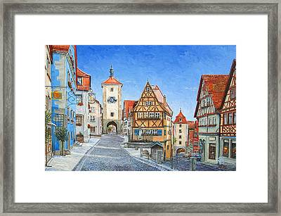 Rothenburg Germany Framed Print