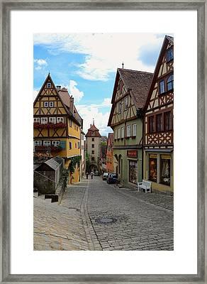 Rothenburg Ob Der Tauber Framed Print by Corinne Rhode