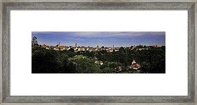 Rothenburg Panorama Framed Print by Joanna Madloch
