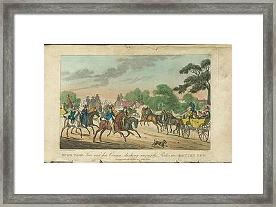 Rotten Row Framed Print by British Library