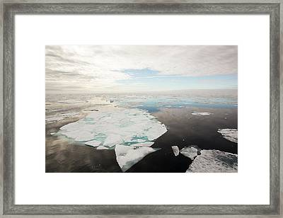 Rotten Sea Ice At Over 80 Degrees North Framed Print by Ashley Cooper