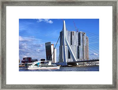 Rotterdam City Downtown Framed Print