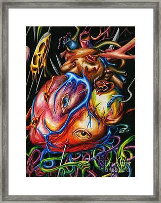 Rotting Heart Framed Print by Alisa Bogodarova
