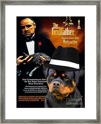 Rottweiler Art Canvas Print - The Godfather Movie Poster Framed Print by Sandra Sij