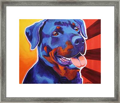 Rottweiler - Baloo Framed Print by Alicia VanNoy Call