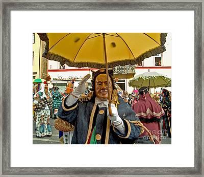 Rottweiler Faschnet Framed Print by Ingrid Cotey