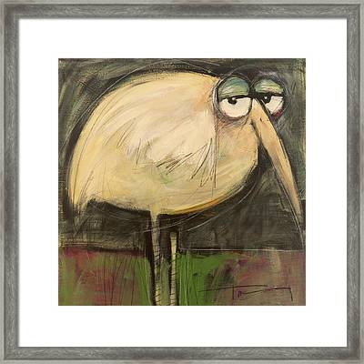 Rotund Bird Framed Print