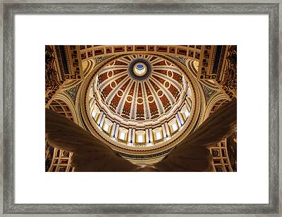 Rotunda Dome On Wings Framed Print