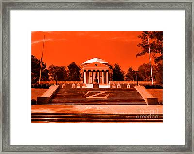 Rotunda Uva Orange Framed Print