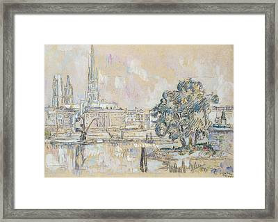 Rouen Cathedral  Framed Print by Paul Signac