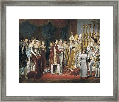 Rouget, Georges 1784-1869. The Marriage Framed Print by Everett