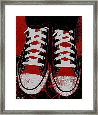 Rough And Red D Framed Print by Ed Smith