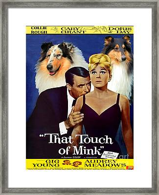 Rough Collie Art Canvas Print - That Touch Of Mink Movie Poster Framed Print by Sandra Sij