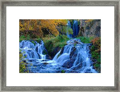 Rough Lock Falls Sd Framed Print by John Currie