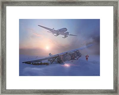 Rough Night At The North Pole Framed Print