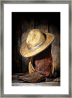 Rough Rider Framed Print by Olivier Le Queinec