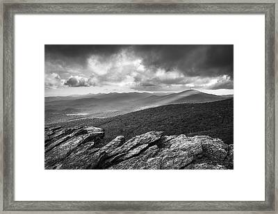 Rough Ridge Grandfather Mountain Blue Ridge Parkway - Remains Of The Day Framed Print by Dave Allen