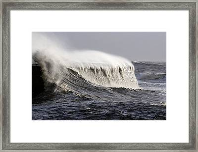 Rough Sea Framed Print by Colin Varndell