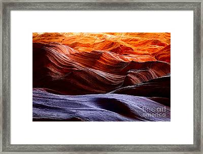 Rough Sea Framed Print by Inge Johnsson