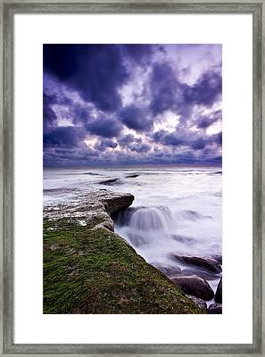 Rough Sea Framed Print by Jorge Maia