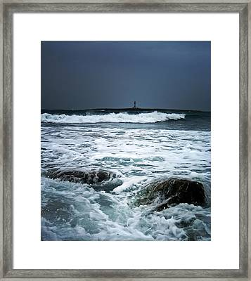 Coastal Storm Framed Print