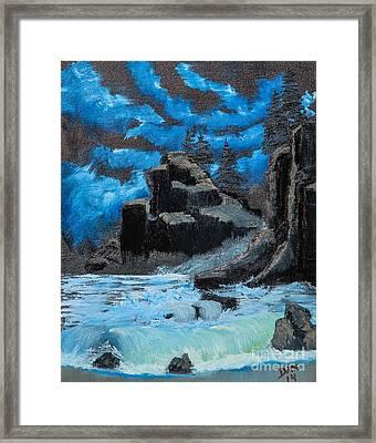 Rough Seas Framed Print by Dave Atkins