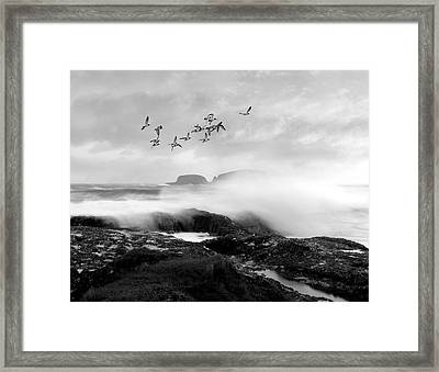Framed Print featuring the photograph Rough Seas by Roy  McPeak