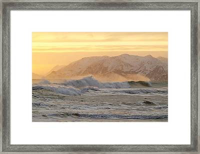 Rough Seas Framed Print by Tim Grams