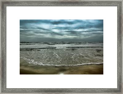 Framed Print featuring the photograph Rough Surf by Ellen Heaverlo