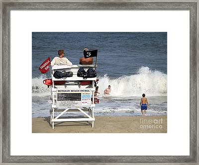 Rough Water At Bethany Beach In Delaware  Framed Print by William Kuta