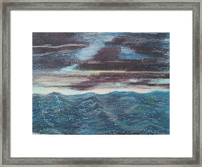 Rough Water Framed Print
