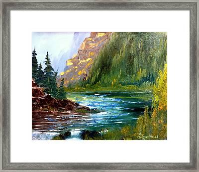 Rough Water Framed Print