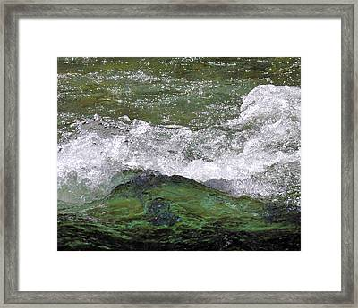 Rough Waters Framed Print by Jessica Tookey
