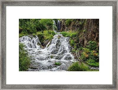Roughlock Falls South Dakota Framed Print by Debra Martz
