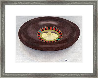 Roulette Wheel Framed Print by Bav Patel
