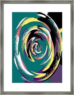 Round And A Round Framed Print