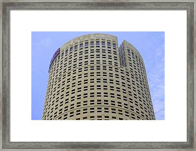 Round Architecture Framed Print by Laurie Perry