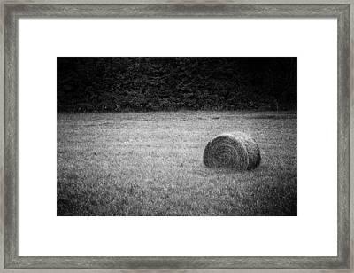 Round Bale Framed Print