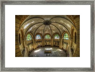Round Bathroom Framed Print