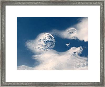 Round Clouds Framed Print by Leone Lund